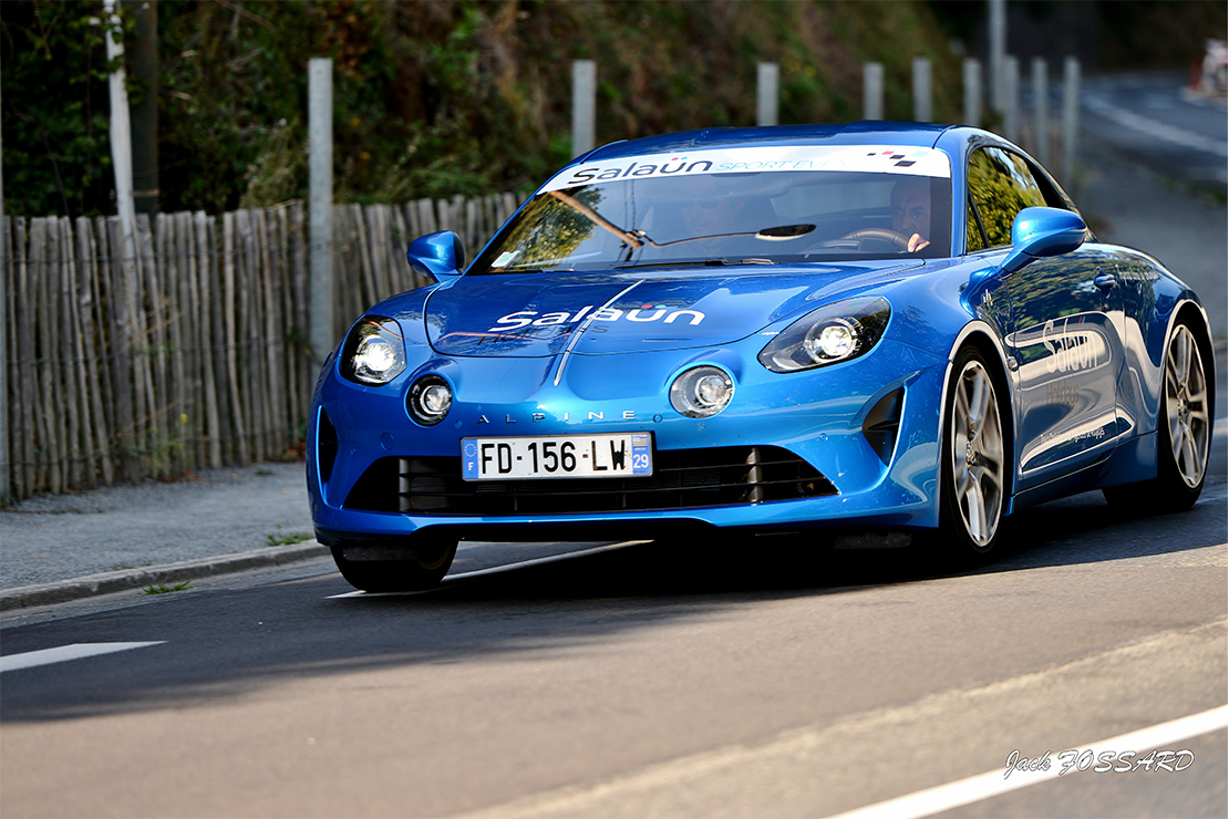 L'Alpine A110 Légende lors de la célèbre Coupe Florio