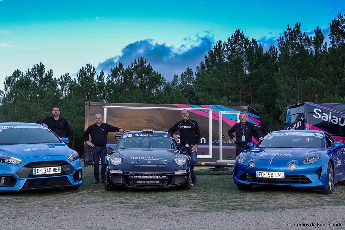 Nos pilotes et leurs voitures lors du Rallye du Ruban Rose